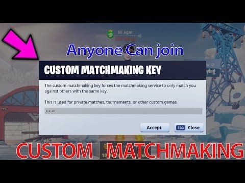 fortnite custom matchmaking key reddit