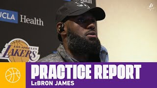 "LeBron: ""I'm here 100 percent, in great health"" 