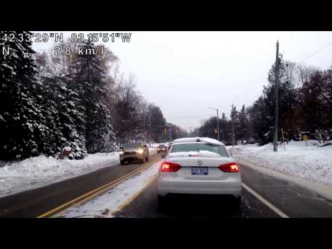 Driving from Bloomfield Hills, Michigan to Utica, Michigan