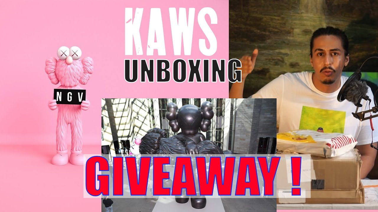 GIVEAWAY KAWS X NGV - Review Koleksi Kaws [ UNBOXING HYPEBEAST #KAWS ]