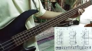 Tự học guitar bass - điệu Bolero - câu 1