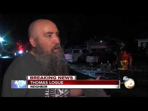 SUV backs into home, starts fire in Mira Mesa
