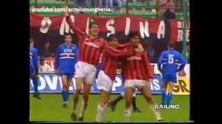 27^ giornatadomenica 5 aprile 1992san siro, milanomilan vs sampdoria 5-1reti: 34' rijkaard, 54' evani, 62' van basten, 82' massaro, 84' vialli, 86' albert...