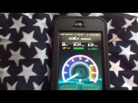 $35 metroPCS 4G LTE Speedtest on iPhone 5 - Faster than WiFi