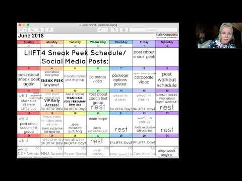 LIIFT4 POSTING SCHEDULE/SNEAK PEEK SCHEDULE - YouTube