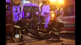 Автобус в Москве съехал в переход на Славянском бульваре, есть жертвы