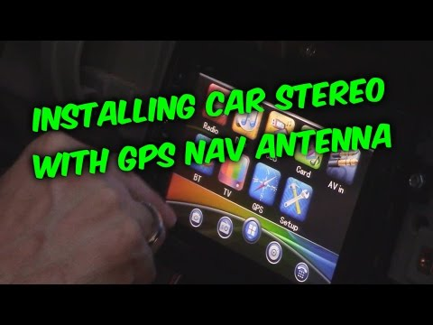 HOW TO INSTALL and WIRE AN AFTERMARKET CAR RADIO WITH GPS - YouTube