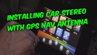 Video HOW TO INSTALL and WIRE AN AFTERMARKET CAR RADIO WITH GPS download MP3, 3GP, MP4, WEBM, AVI, FLV November 2017