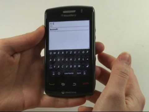 BlackBerry Storm 2 9520 Test Bedienung