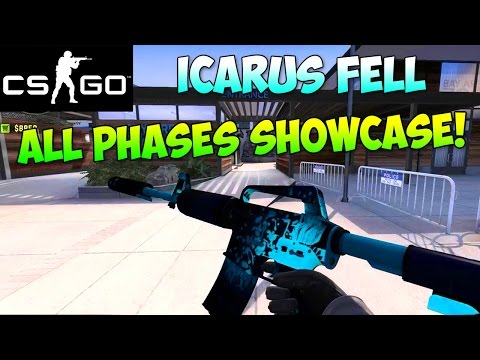 CS:GO -  M4A1-S Icarus Fell All Different Phases Showcase! (Counter Strike Skins)