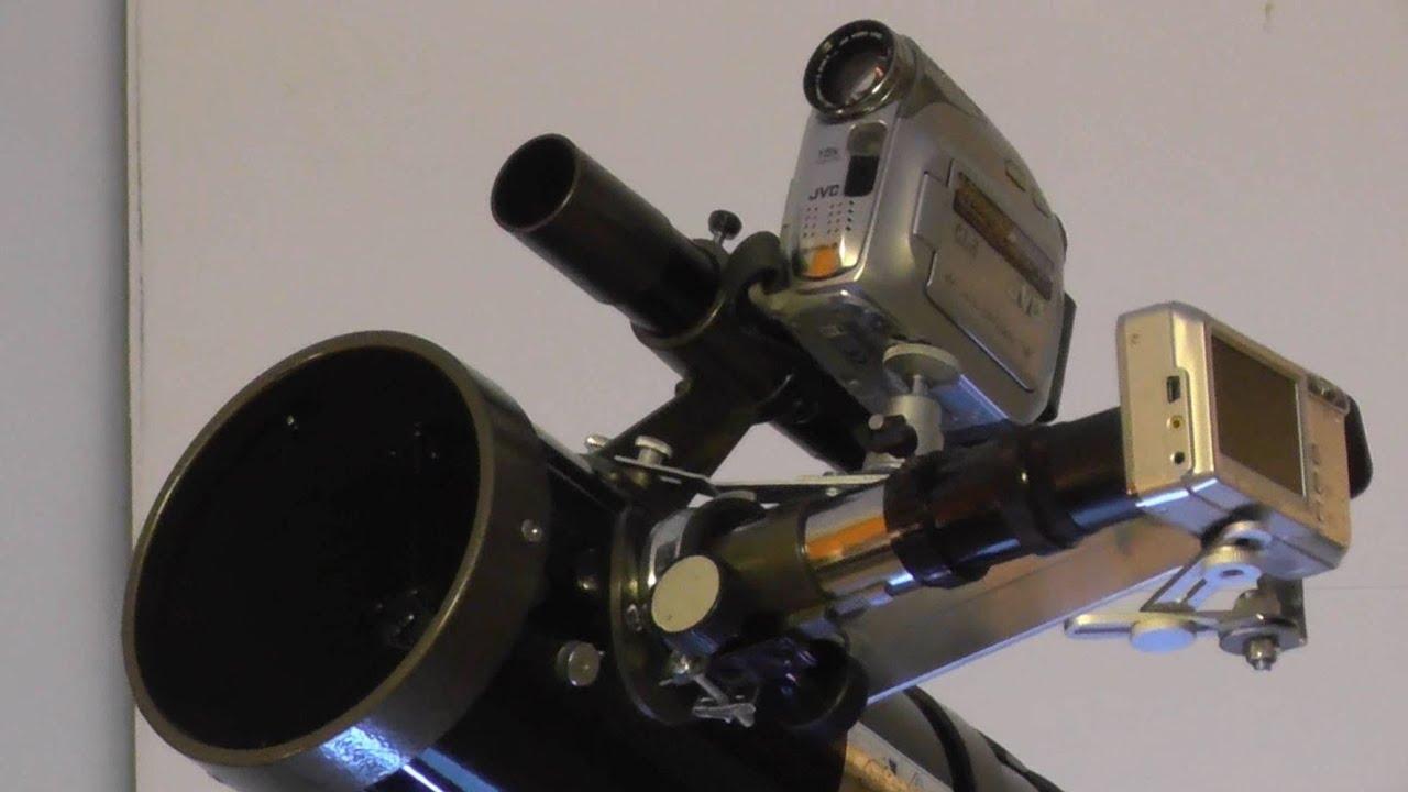 Adapting digital camera & camcorder to telescope digital kamera