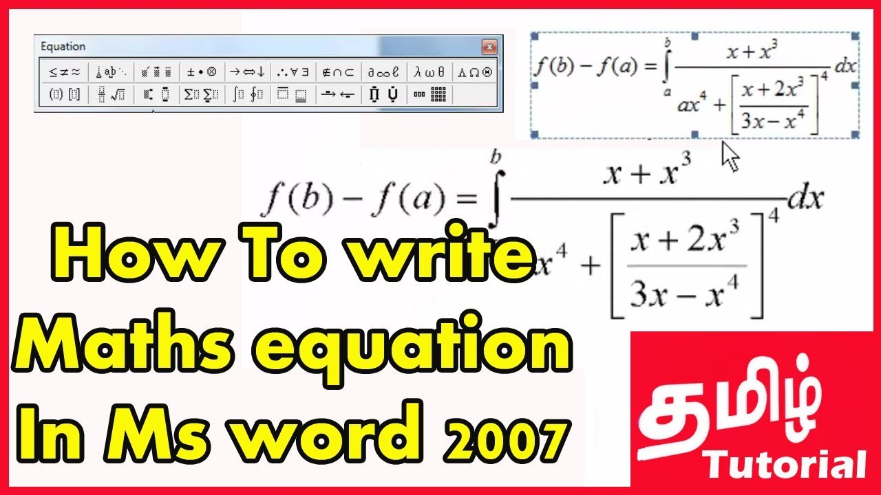 How do i write math formulas in microsoft word