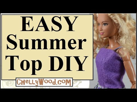 Free Doll Clothes Patterns: Easy DIY Summer Shirt for Barbie and Other Fashion Dolls