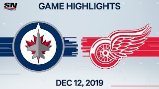 NHL Highlights | Jets vs Red Wings – Dec. 12, 2019