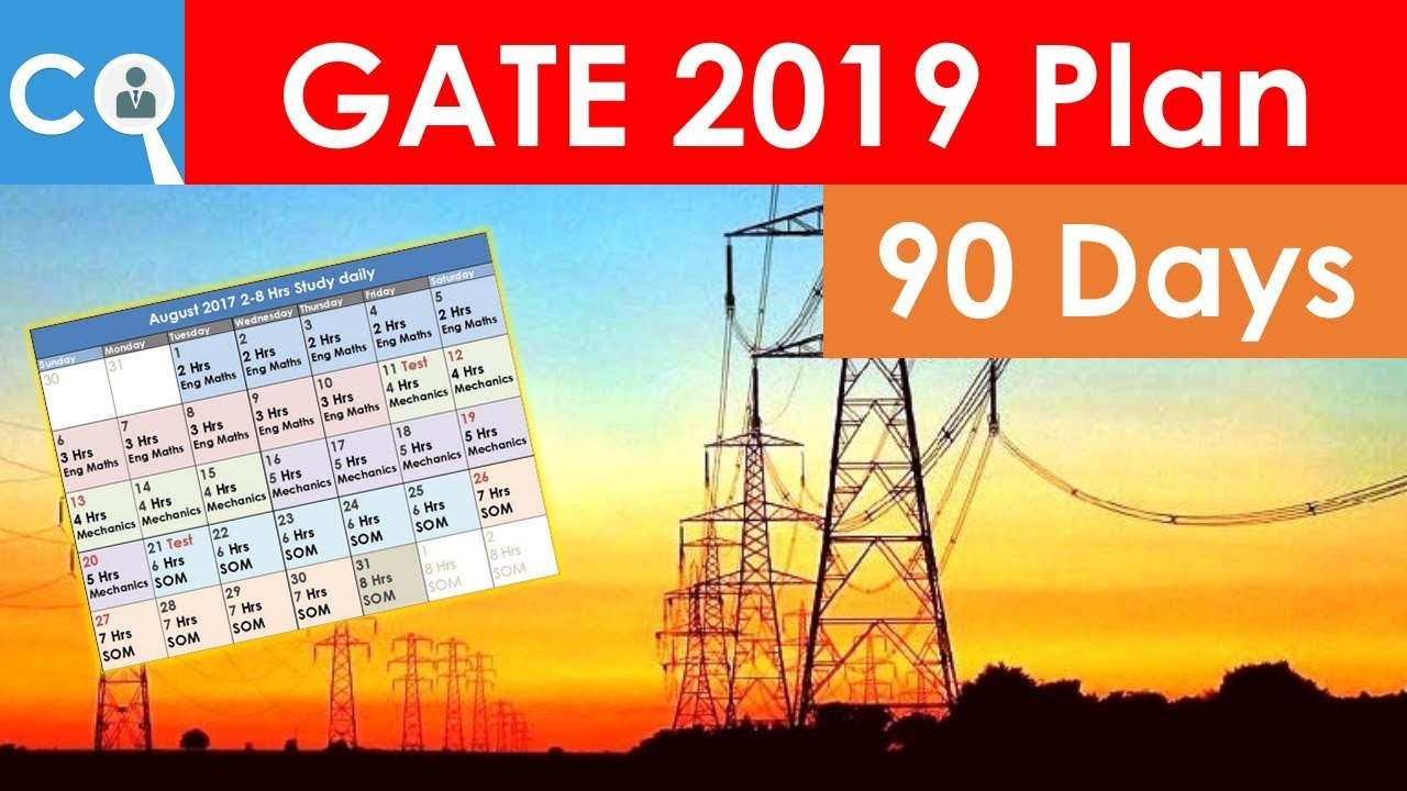 hight resolution of gate 2019 90 days plan for electrical engineering