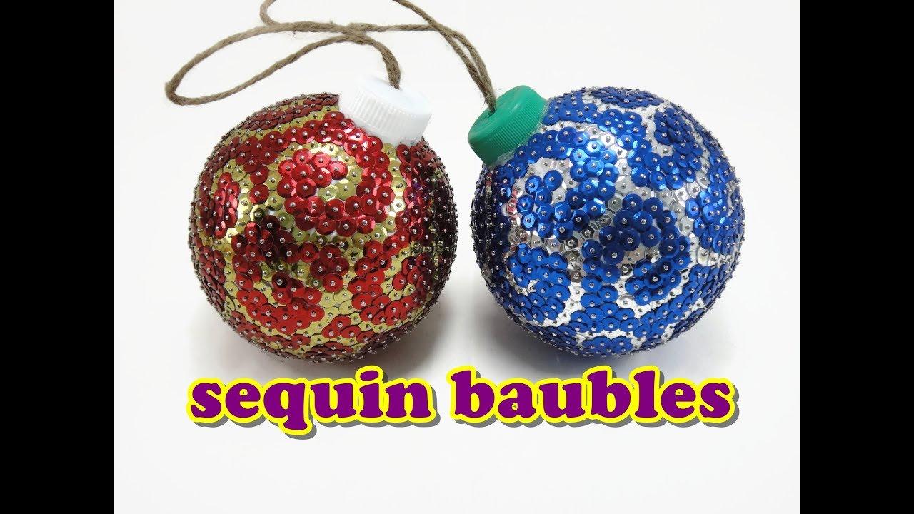 Christmas Craft Sequin Baubles Doovi