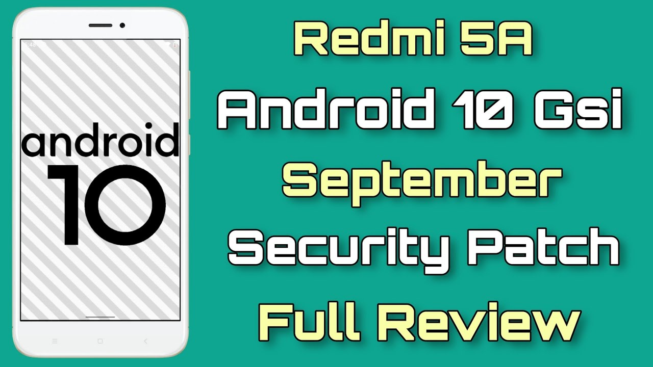 Android 10 On Redmi 5A First Look   September Security Patch   Full Review  😎