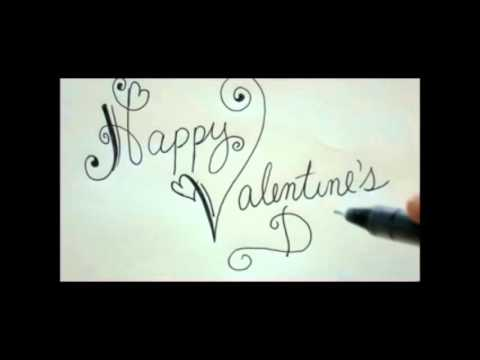 happy valentines day diy card easy fancy writing - youtube, Ideas