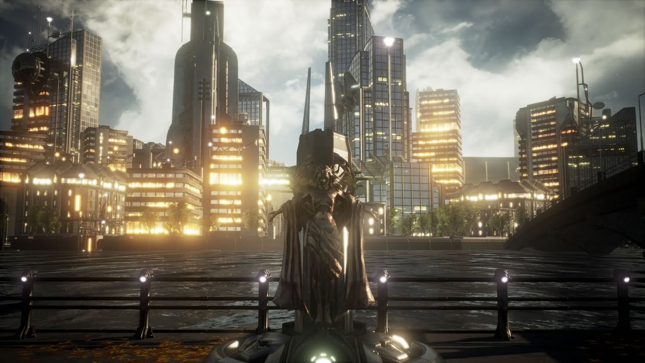 Pre Sci-Fi City Park - Unreal Engine 4