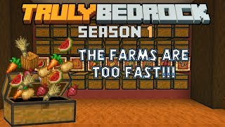 The farm towers ARE FINISHED!!! It's too fast! Truly Bedrock s1ep42