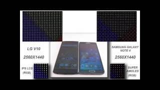LG V10 Vs Samsung Galaxy Note 4 display quality