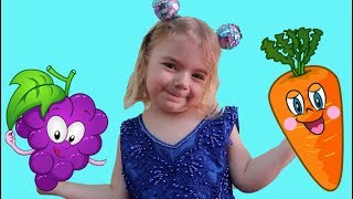 Hickory Dickory Dock and Vegetables Song | Nursery Rhymes by Anabella Show