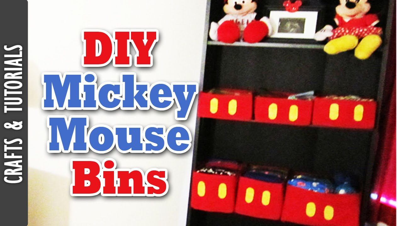 DIY: Mickey Mouse Bins ( Room Decoration)  The290ss   YouTube