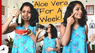 Fresh Aloe Vera Gel & Water On Empty Stomach For A Week (See What Happened) | Arpitharai