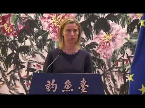 HRVP Federica MOGHERINI in Beijing - Joint Press Point with YANG Jiechi, Chinese State Councillor