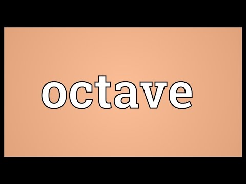 Octave Meaning