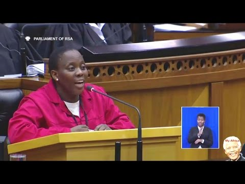 """EFF MP Makes """"Ginger"""" Lindiwe Zulu Very Angry. Funny"""