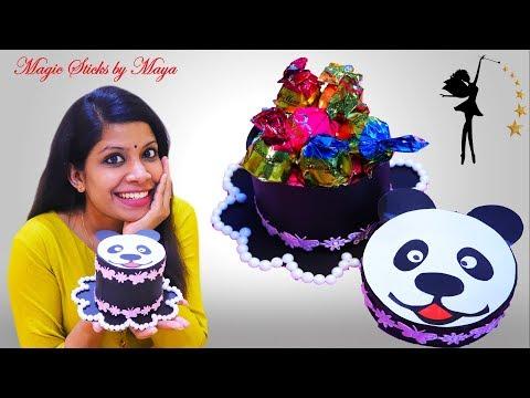 DIY Gift Box | How To Make Paper Cake Gift Box | Gift Ideas For Birthday | Panda Gift Box
