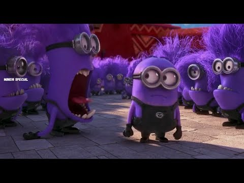 The Purple Minion Attacks scene - Despicable Me 2 ( 2013 )