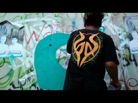 Graffiti character animal by juli  timelapse graffiti indonesia