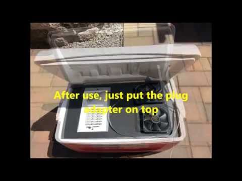 HOME MADE ICE CHEST 12V AIRCONDITIONER DIY BONG