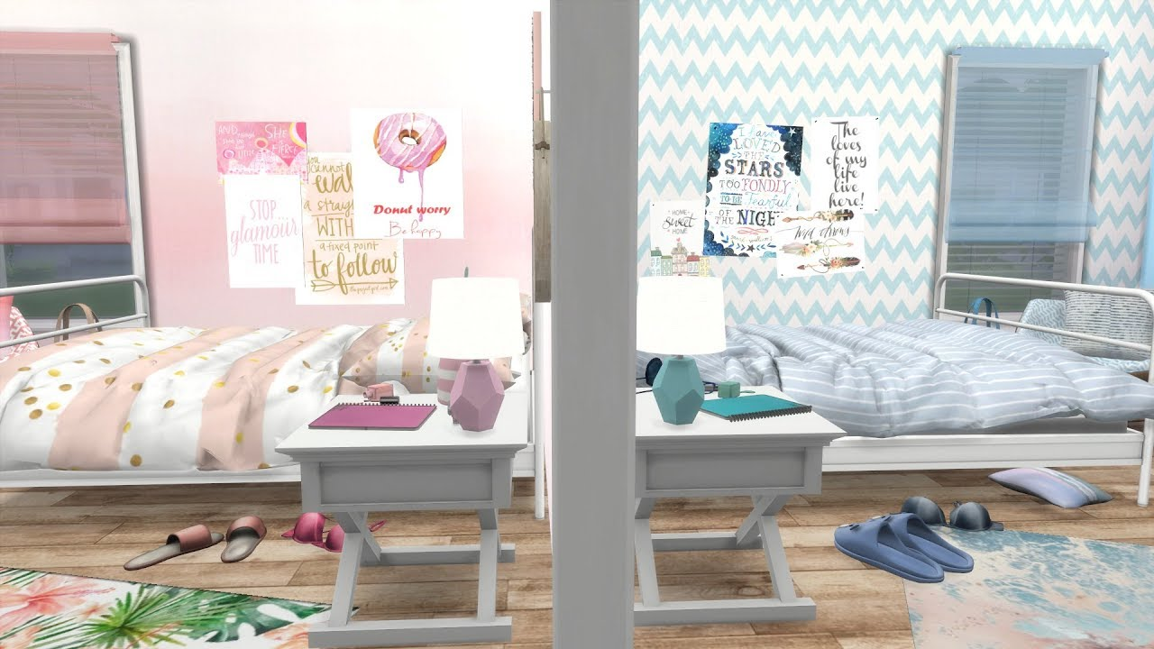 THE SIMS 4: PINK VS BLUE BEDROOM