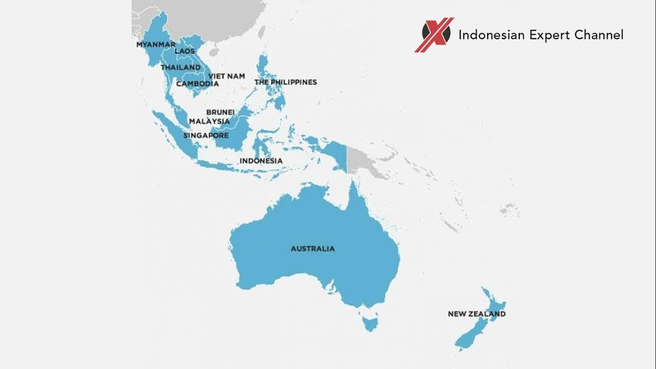 Map Of Southeast Asia Australia And New Zealand.Commercial Aircraft From South East Asia Australia And New Zealand