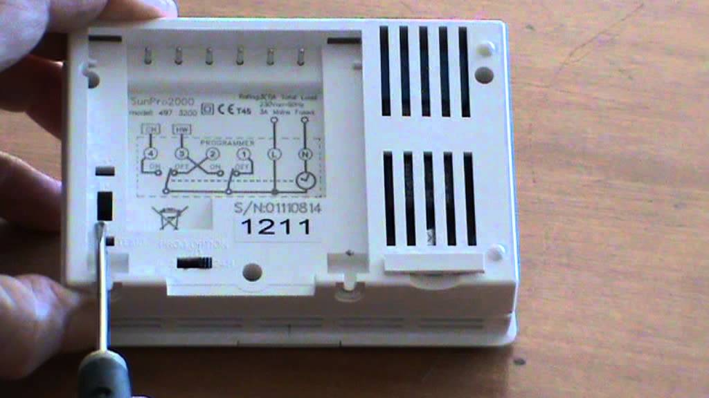 thermostat wiring diagram maytag washer installing sunvic sunpro2000 part 1 - youtube
