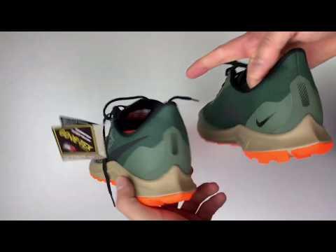 nike-air-zoom-pegasus-36-trail-gtx-'green/orange'- -unboxing-&-on-feet- -running-shoes- -2019