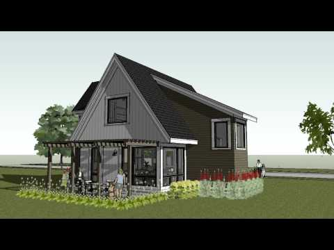 Small Cottage, Cabin, Beach Home Design - Scandia Modern Cottage House Plan