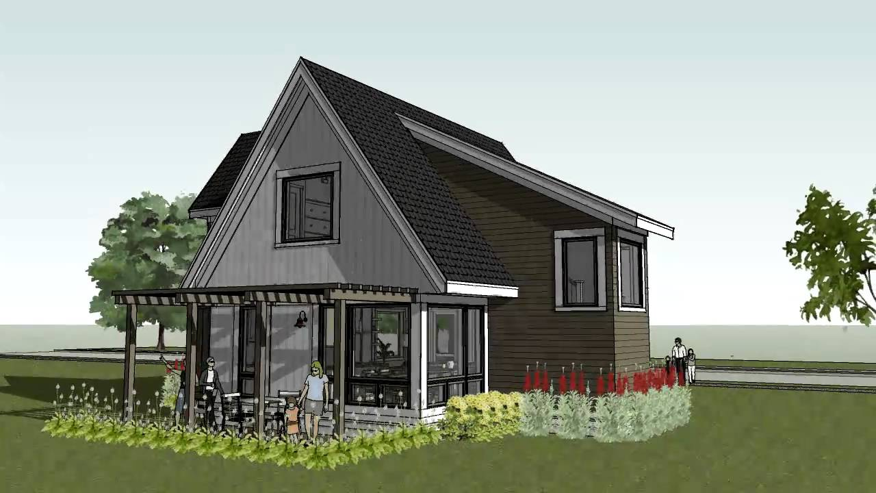 Small cottage cabin beach home design scandia modern Beach cottage design plans