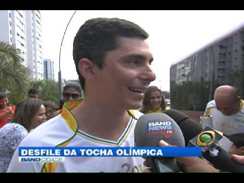 "Band Cidade - ""Desfile da tocha Olímpica"""