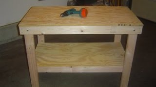 Mark Donovan of http://www.HomeAdditionPlus.com shows how to build a garage workbench. This video will show you step by step