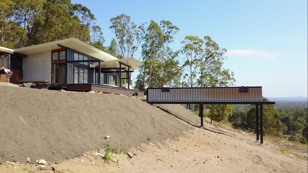 Sloping Property Shipping Container Pool Is The Answer