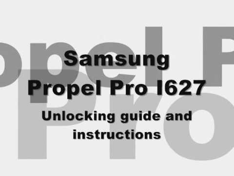How to unlock Samsung Propel Pro SGH-i627 Cingular At&t ATT Rogers Fido Sim code