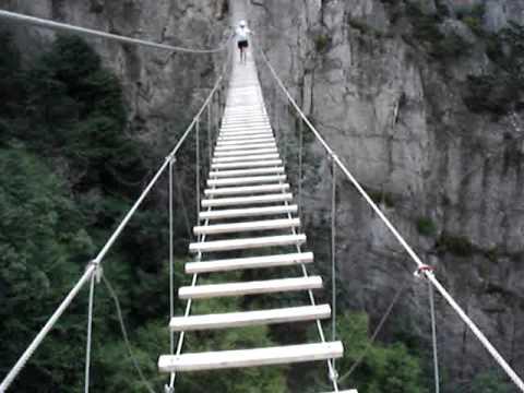 Via Ferrata Bridge, Nelson Rocks, West Virginia