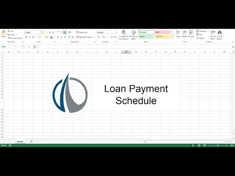 Loan Payment Schedule - Easy Template - Fastest Way to Make a Payment Schedule