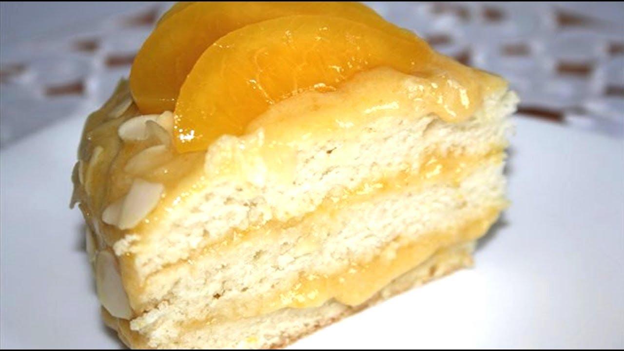 Рецепт постного бисквитного торта