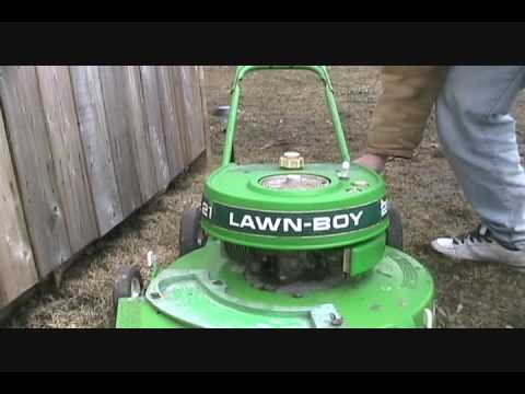 First 2009 Start- 1980 Lawnboy 7260g Deluxe
