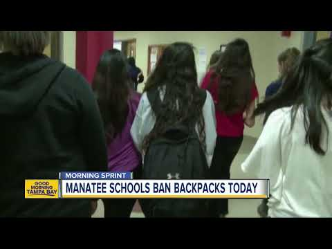 School district in Florida asks students not to bring backpacks to school on Friday